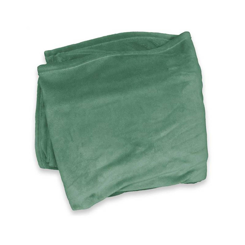 Unique Living Enzo fleece plaid - 100% polyester, Fleece polyester - 130x180 cm - Groen