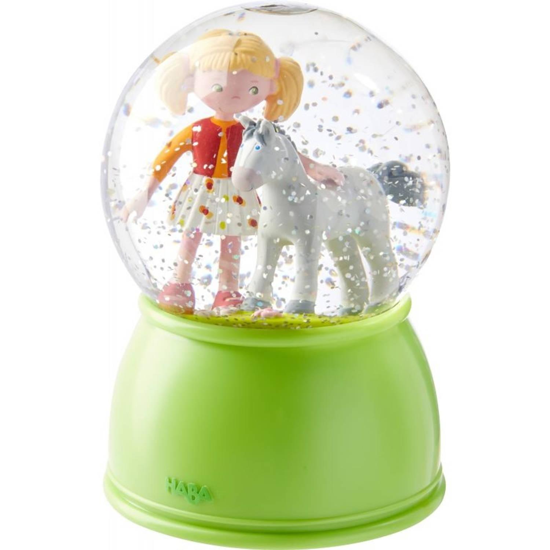 Haba nachtlamp Sneeuwbol Paardengeluk 15 cm groen