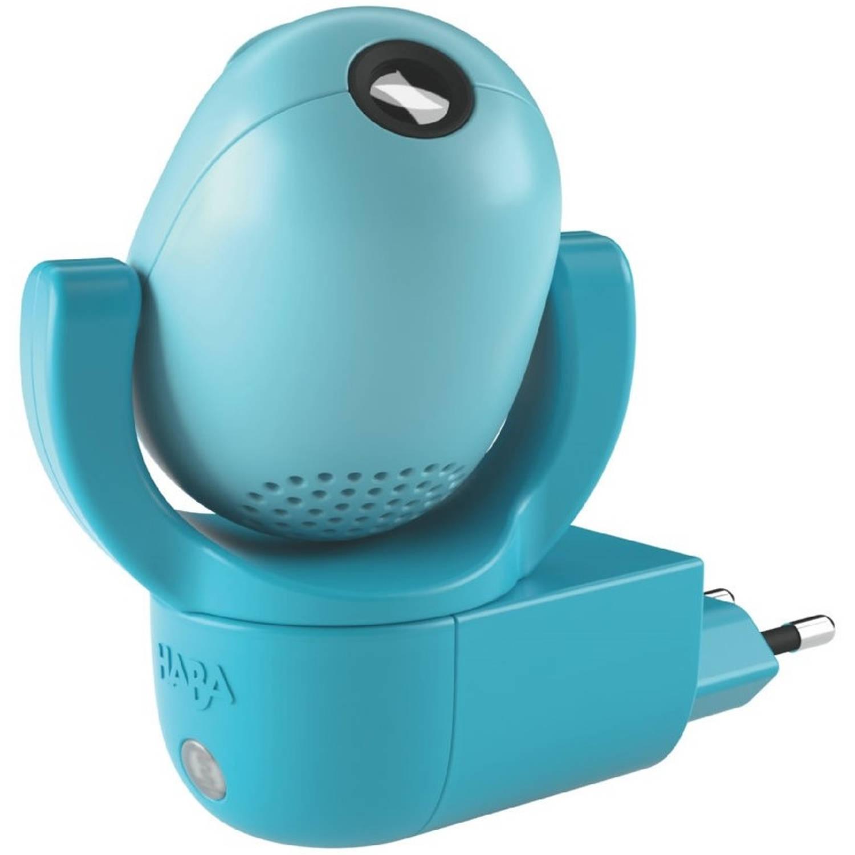 Haba nachtlampje plugin met muziek beer op wacht blauw 8 cm