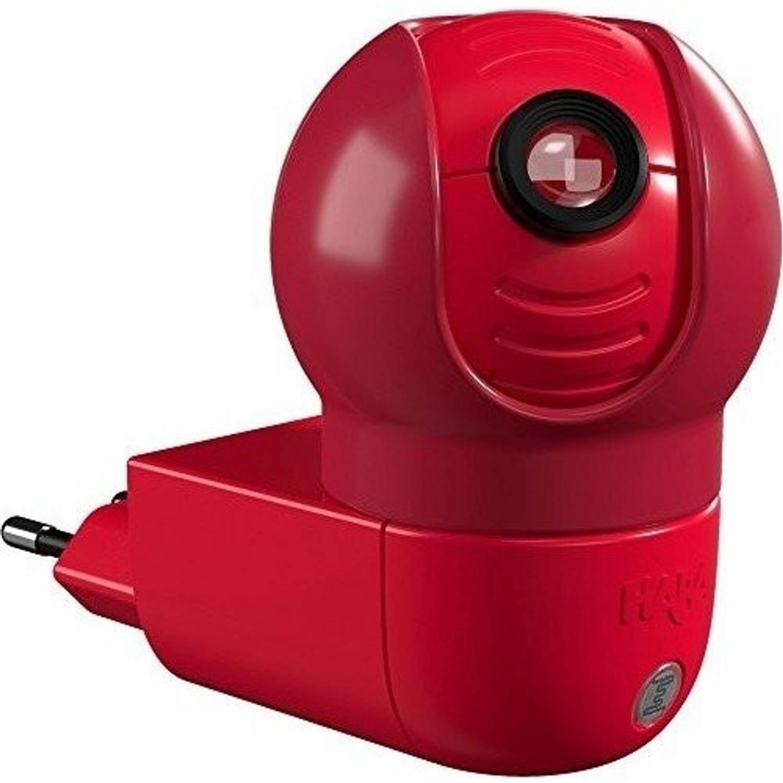 Haba nachtlampje nachtwachtmuis 10 cm rood