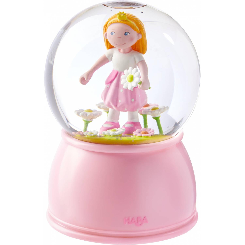 Haba nachtlamp/sneeuwbol Prinses led 15 cm roze