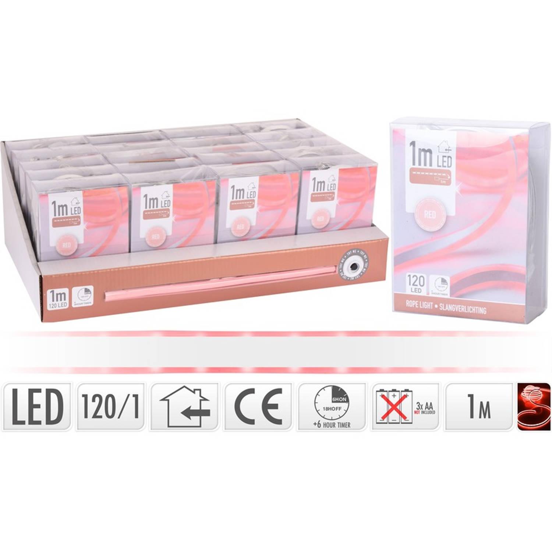 Slangverlichting LED strip rood binnen 1 meter - kerstverlichting