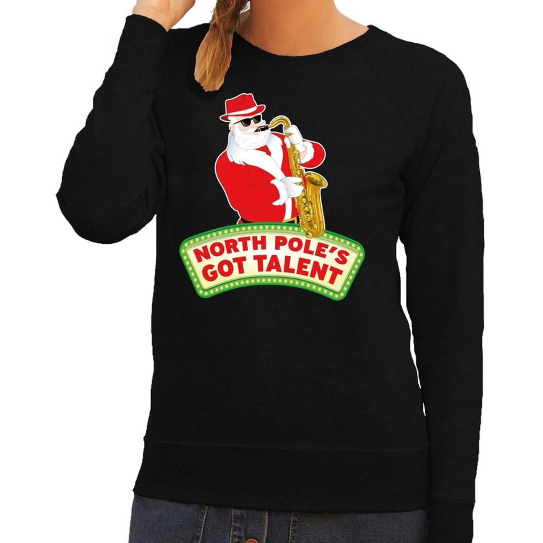 Foute kersttrui / sweater dames - zwart - North Poles Got Talent XS (34)