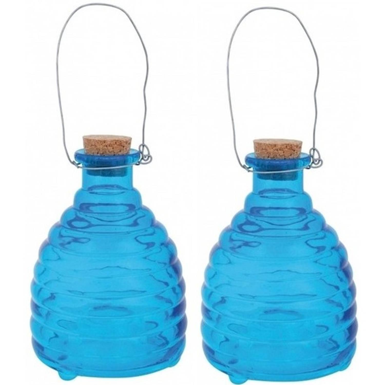 2x Wespenvanger blauw - 14 cm - wespenval / wespenvanger