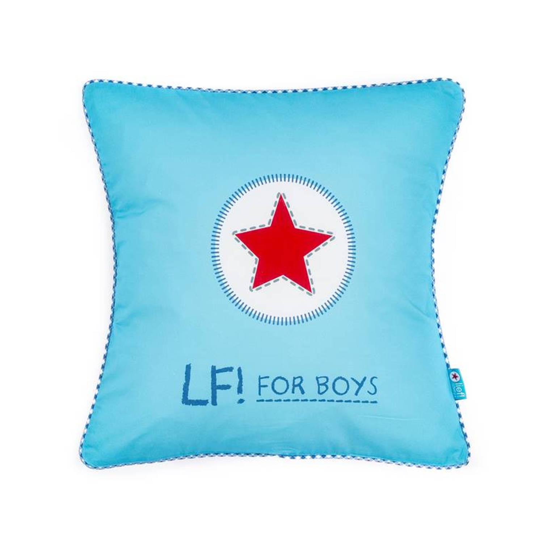 Lief! Boy Uni sierkussen - 100% katoen - 45x45 cm - Blauw