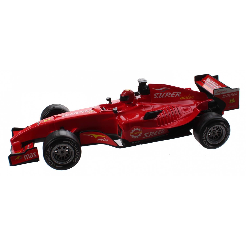 Kids Fun racewagen met licht en geluid jongens 25 cm rood