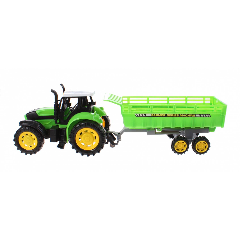 Kids Fun Tractor met aanhanger groen