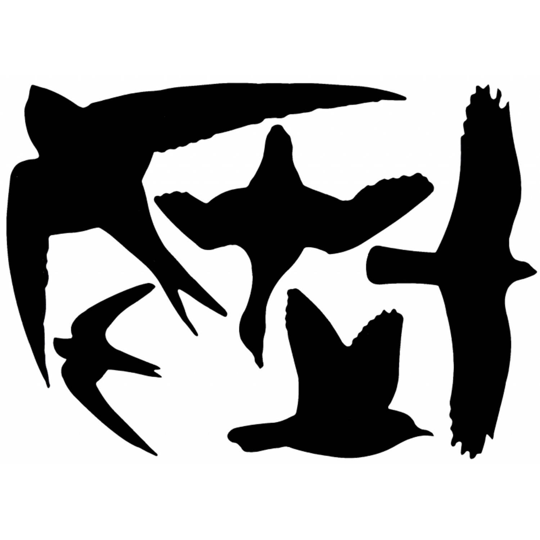 5x Vogel raamstickers 33 x 23 cm 5 stuks