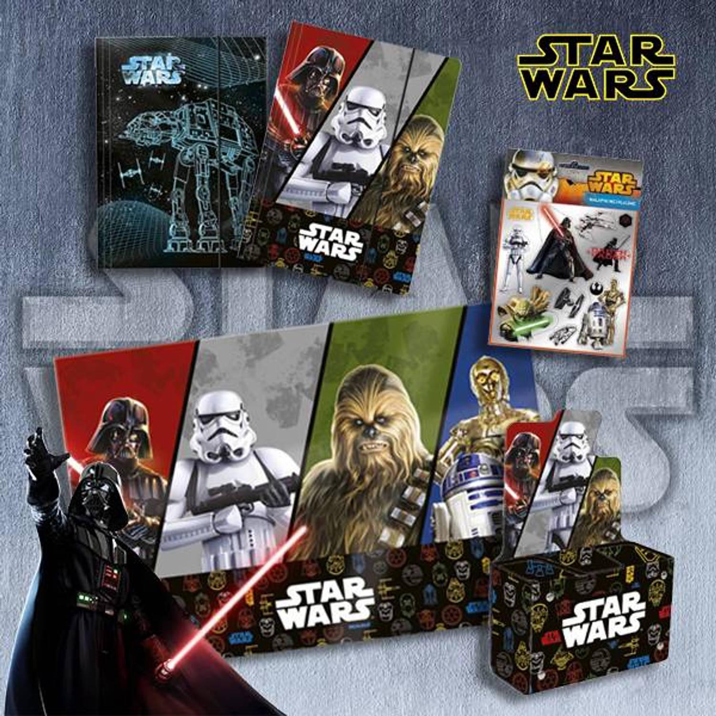 Disney The Force - Cadeau Set School - 5 stuks Cadeau Speelgoed>Knutselartikelen>Teken-, schrijf- & kleurbenodigdheden>Schrijfsets