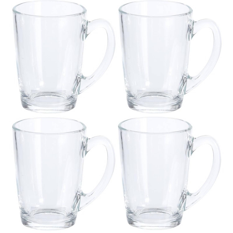 Image of 8x Koffie glazen 320 ml - 8x thee glazen 320 ml