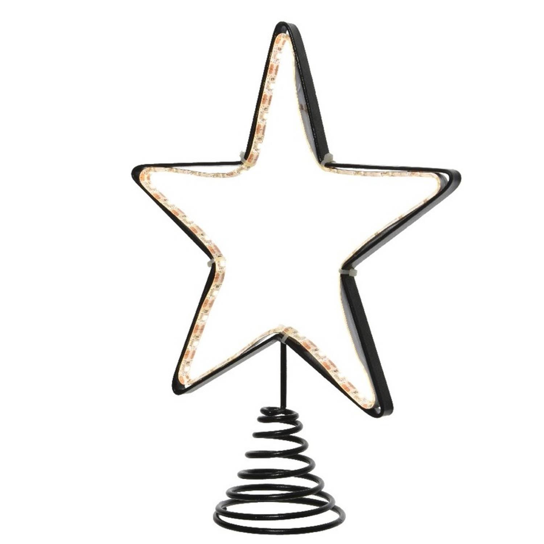 Kerstboom piek met LED ster verlichting 22 cm kopen