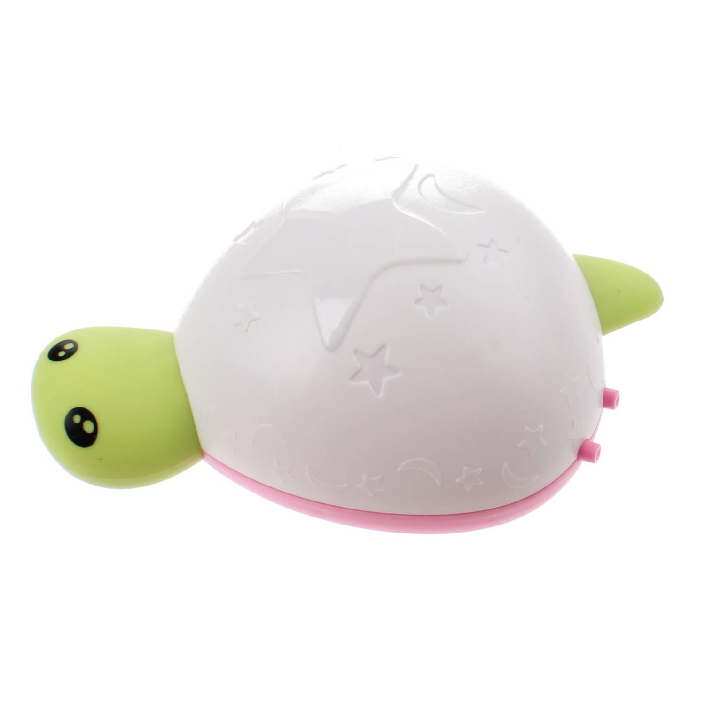 Johntoy nachtlamp Schildpad met geluid 14 cm wit/groen