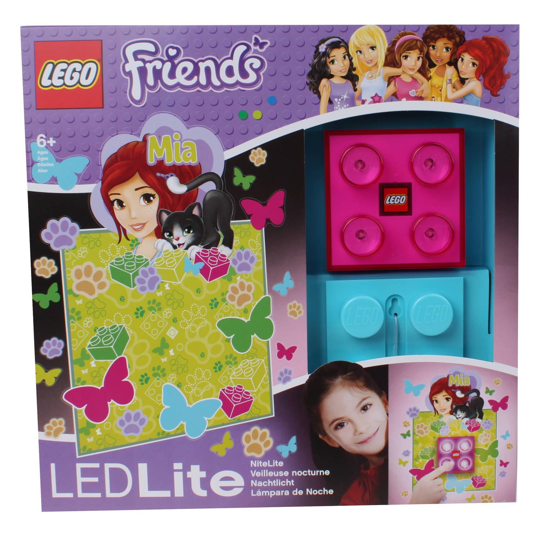 LEGO Friends: nachtlamp Mia 9 cm roze/blauw