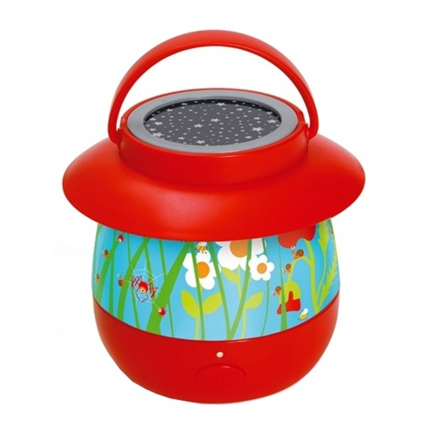 Scratch nachtlamp Circus junior rood 14 x 12,7 cm