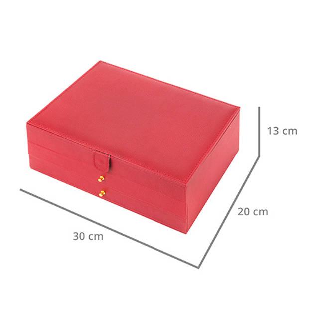 Treasury Sieradendoos - Luxe bijouteriedoos - Draw Red