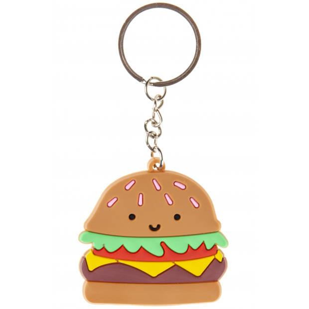LG-Imports Sleutelhanger hamburger 4,5 cm bruin