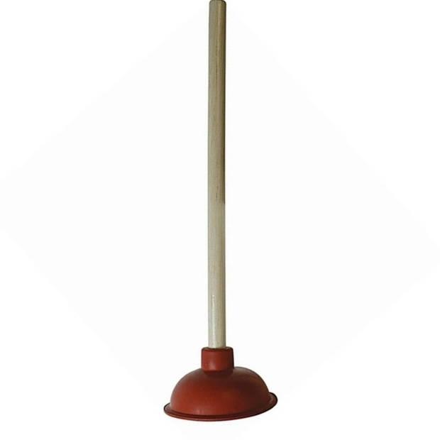 Ontstopper / plopper met houten steel - 140 mm - gootsteenontstopper