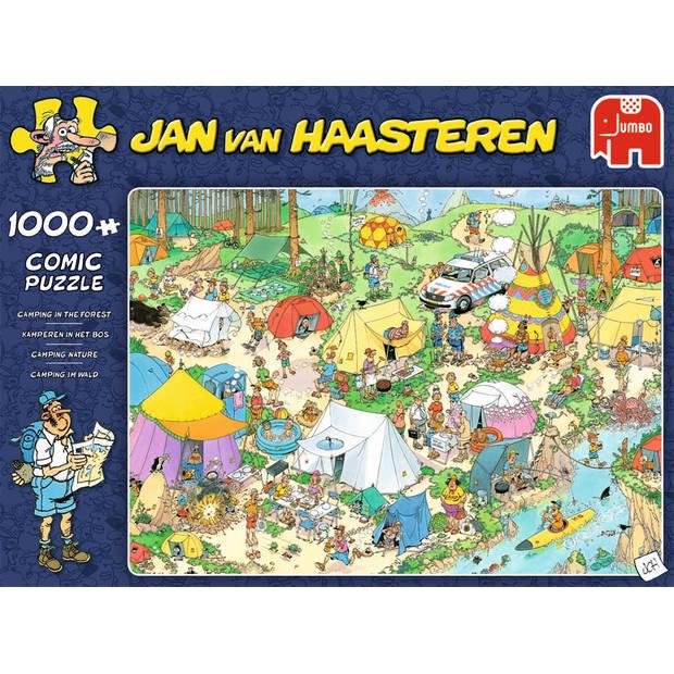 Jan van Haasteren puzzel kamperen in het bos - 1000 stukjes