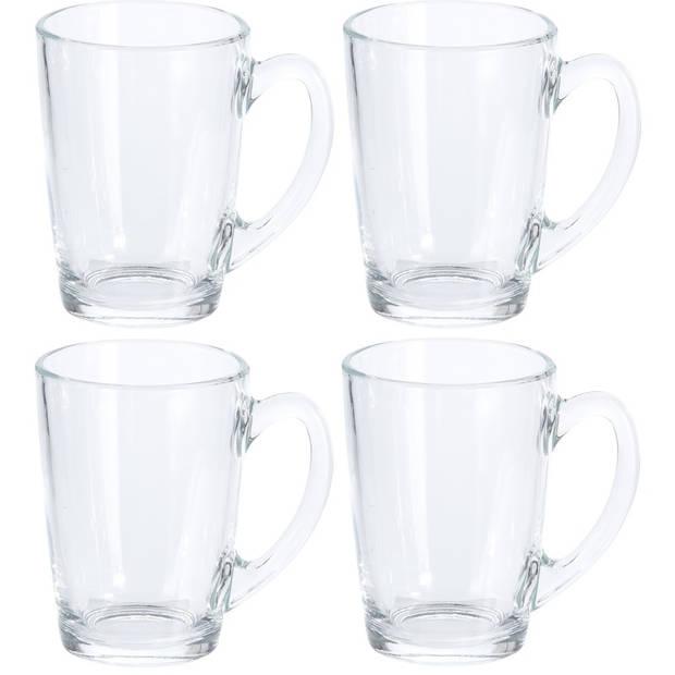 8x Koffie glazen 320 ml - 8x thee glazen 320 ml