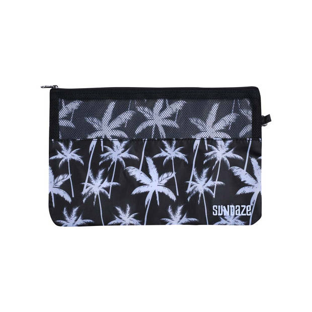 Sundaze koffer organizer - set 3 stuks - palmboom zwart