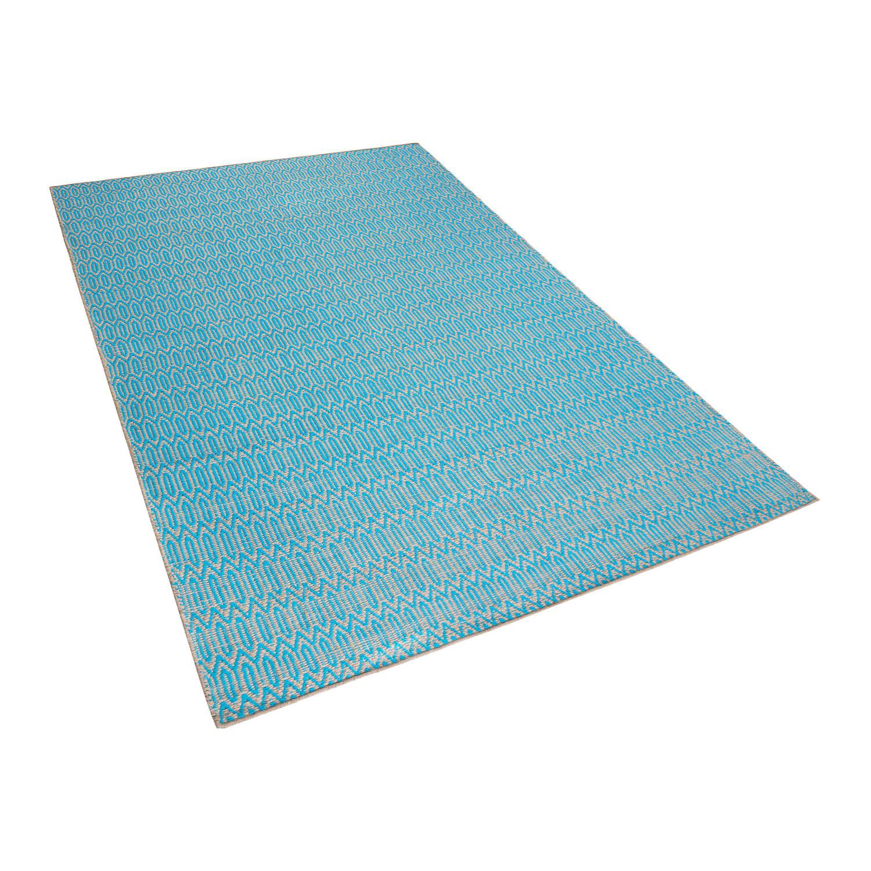 Beliani Silopi Tapijt Blauw Stof 160 x 230 cm