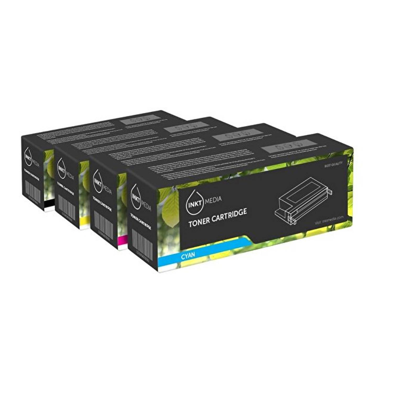 Inktmedia® -Laser toner - Alternatief voor de HP 305A toner 4 stuks CE410 tot Ce413