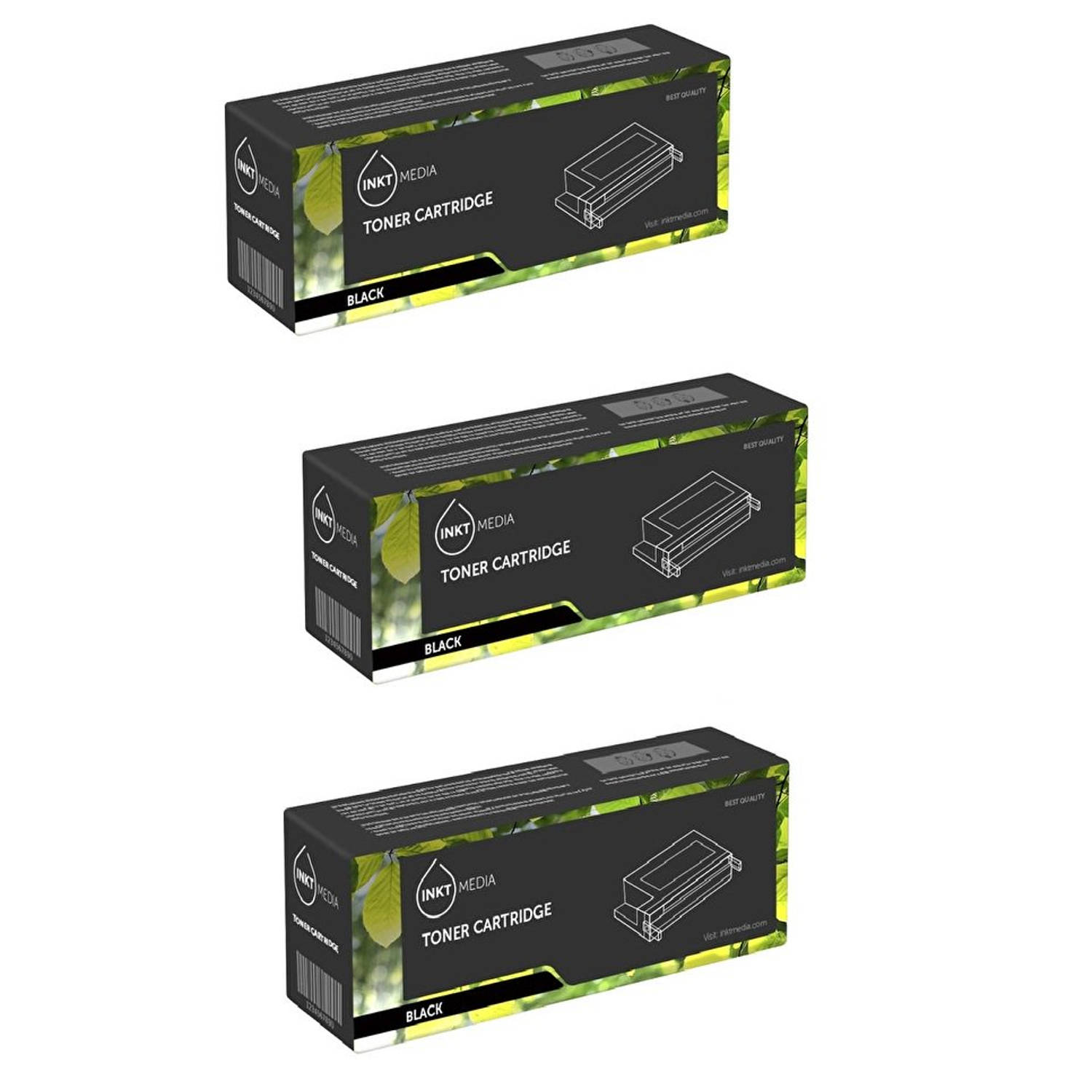 Inktmedia® - Toner cartridge - Alternatief voor de Brother TN-2010 zwart 3x toner