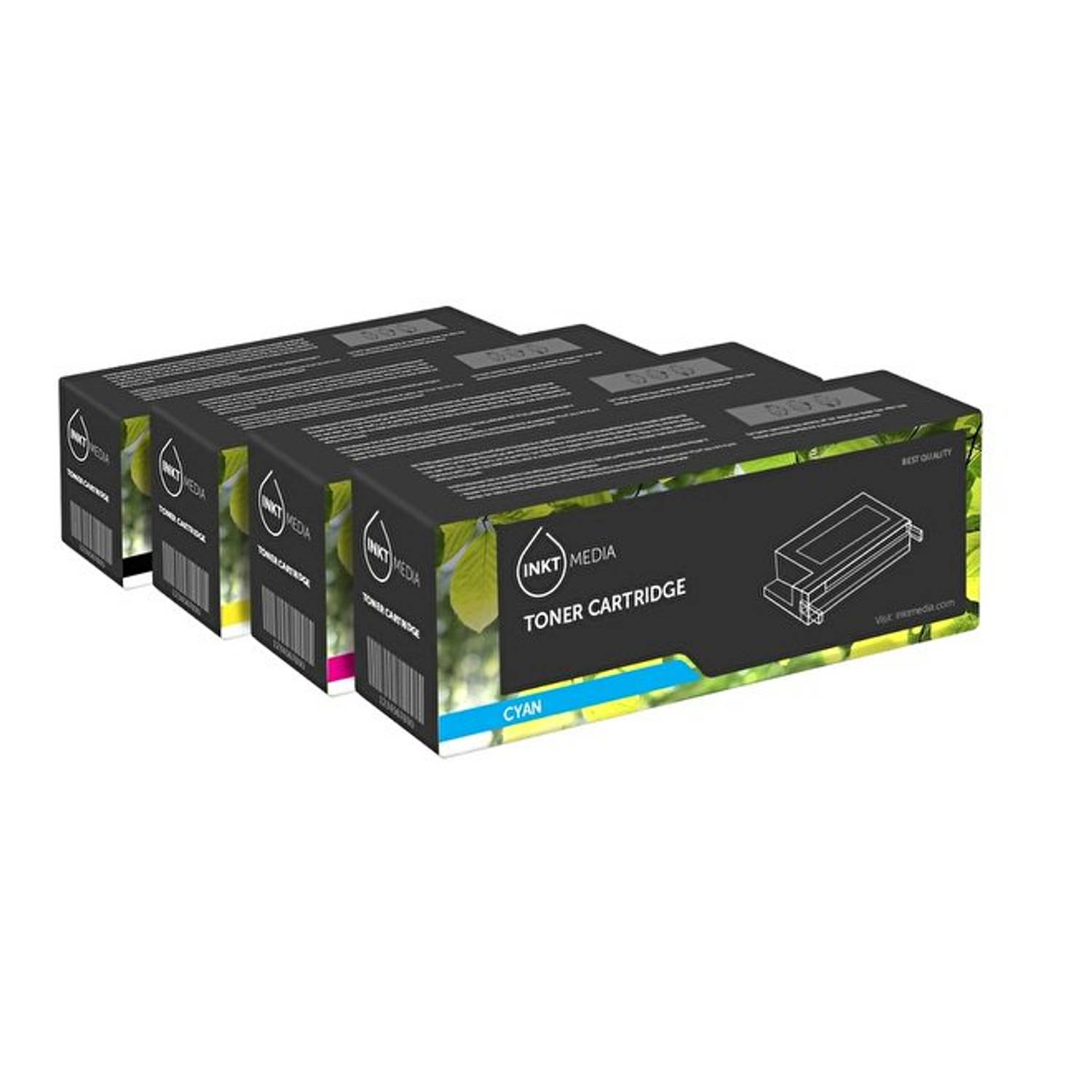 Inktmedia® - Toner cartridge - Alternatief voor de Hp 125A HP CB540A, 541A, 542A, 543A