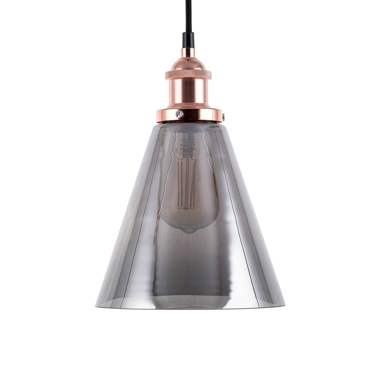 Korting Beliani Enza Hanglamp Glas 20 X 20 Cm