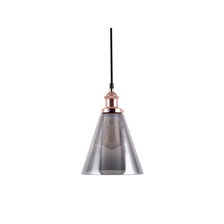 Beliani Enza Hanglamp Transparant Glas