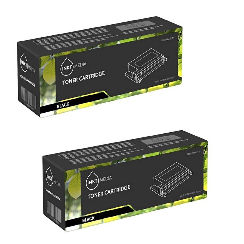 Inktmedia® - Toner cartridge - Alternatief voor de Hp 36A CB436A toner zwart 2x