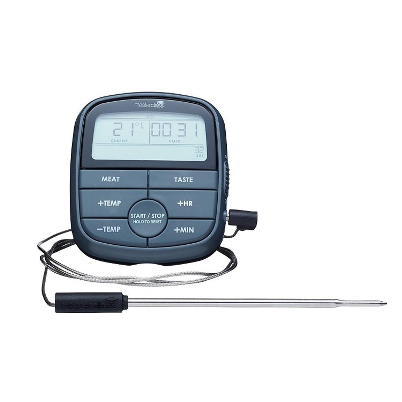 Digitale Kookthermometer & Timer - Antraciet - MasterClass