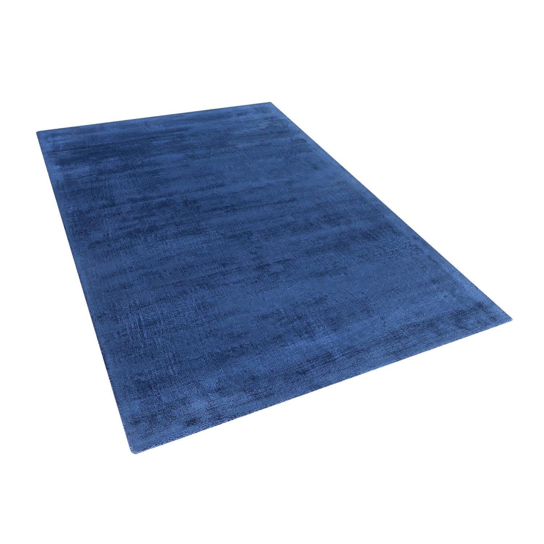 Beliani Gesi Tapijt Blauw Stof 160 x 230 cm
