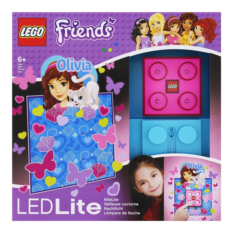 LEGO Friends: nachtlamp Olivia 9 cm roze/blauw