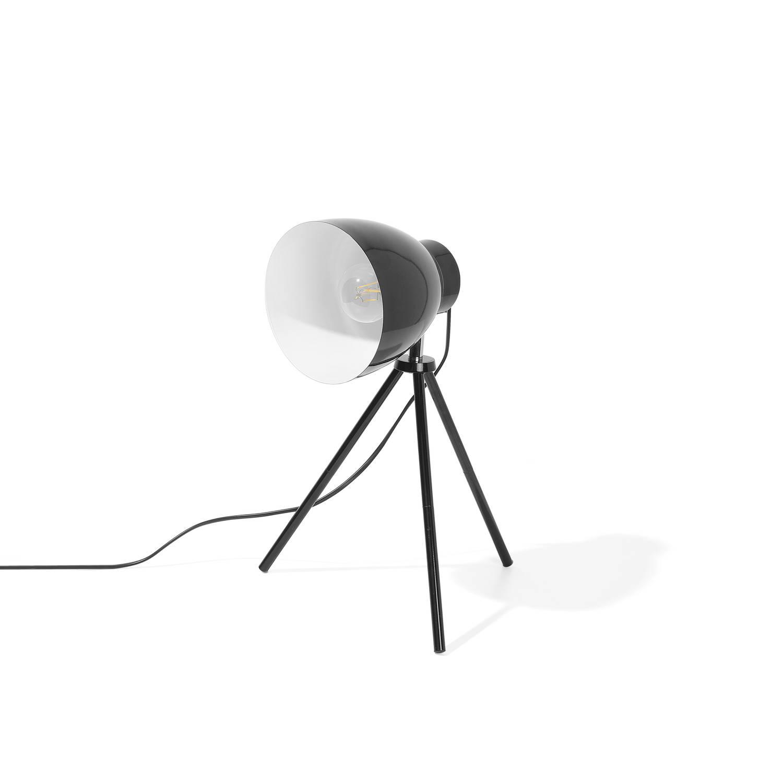 Beliani Tamega Tafellamp Zwart Metaal