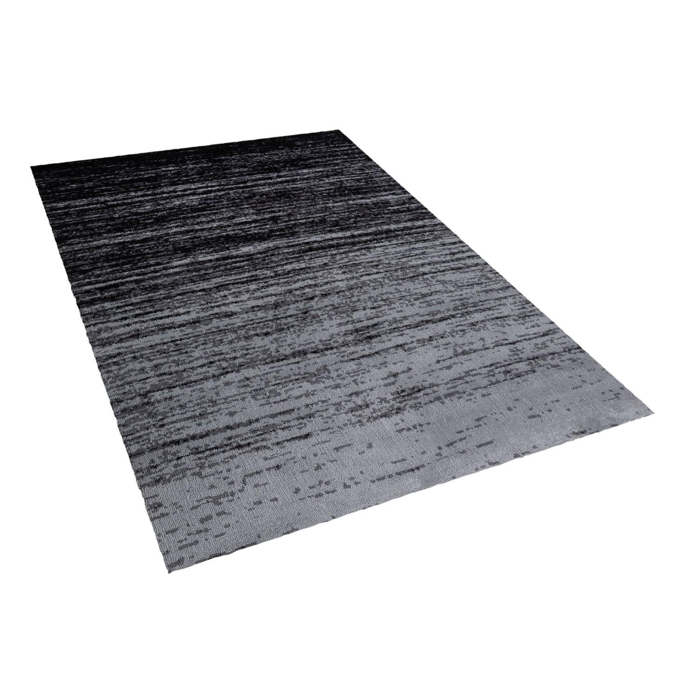 Beliani KATERINI Tapijt Zwart Stof 160 x 230 cm