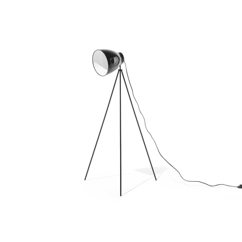 Beliani Tamega Staande lamp Zwart Metaal