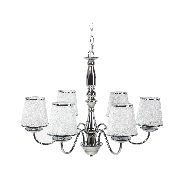 Beliani Bradano Hanglamp Zilver Acryl
