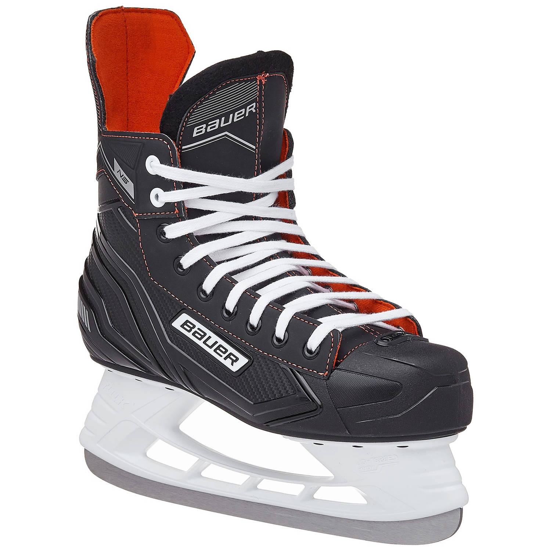 Bauer ijshockeyschaatsen NS Skate junior zwart/rood maat 37,5