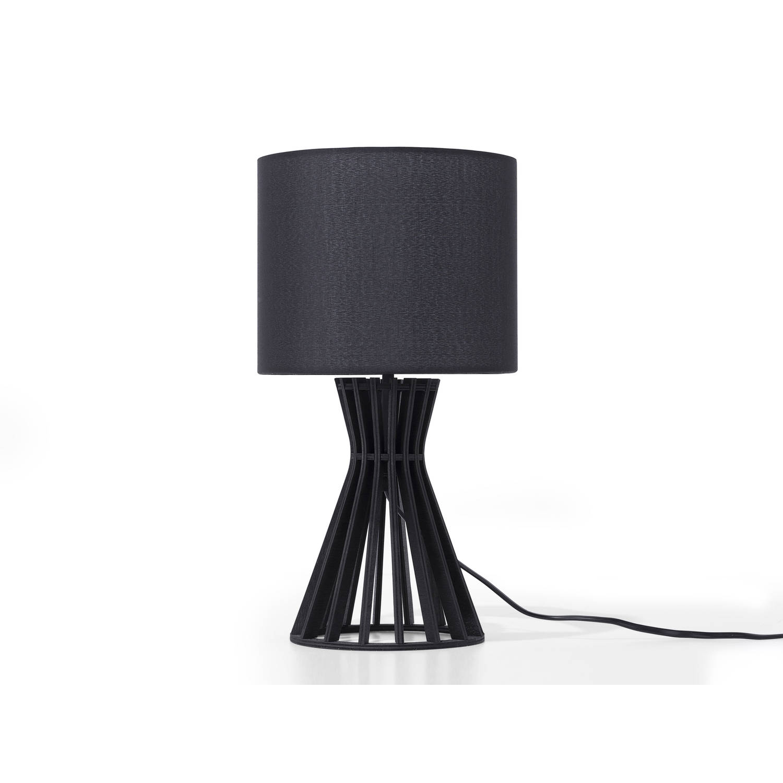 Beliani Carrion Tafellamp Zwart