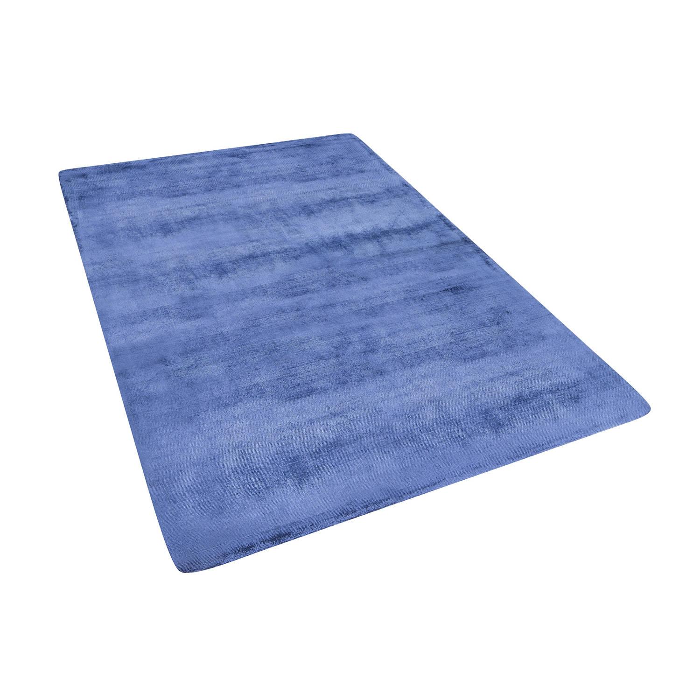 Beliani Gesi Tapijt Blauw Stof 140 x 200 cm