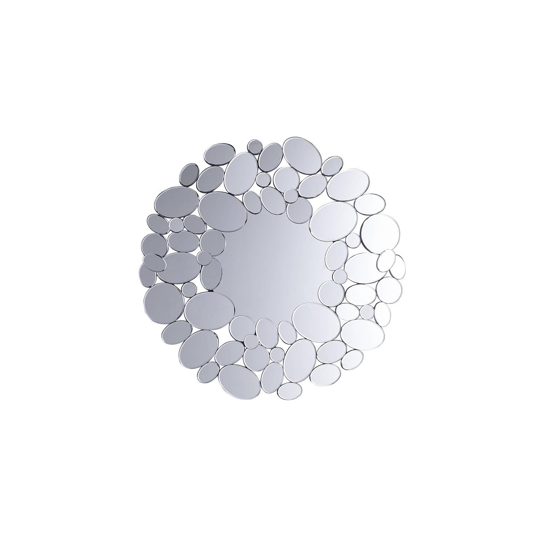 Beliani Limoges Spiegel Zilver Glas