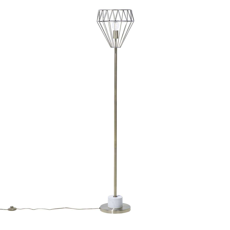 Korting Beliani Mooni Staande Lamp Metaal 30 X 30 Cm