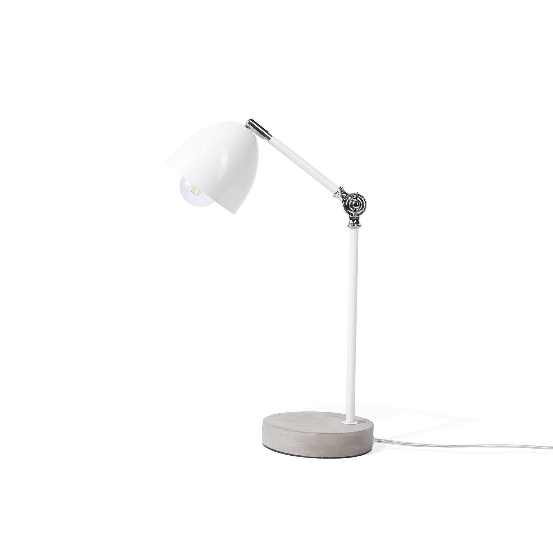 Beliani Chanza Bureaulamp Wit Metaal