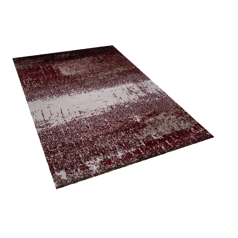 Beliani ALIMOS Tapijt Rood Stof 140 x 200 cm