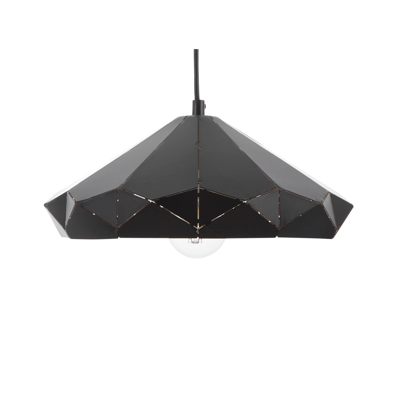 Beliani Nevola Hanglamp Zwart Metaal
