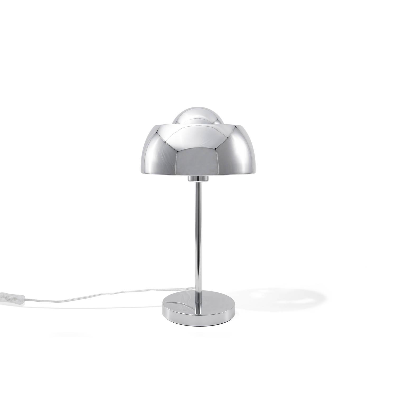 Beliani Senette Tafellamp Zilver Metaal
