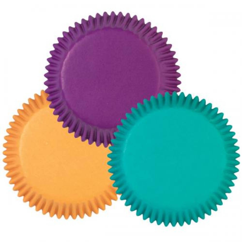 Image of Papieren cupcake vormpjes Jewel Tone, set van 75 - Wilton