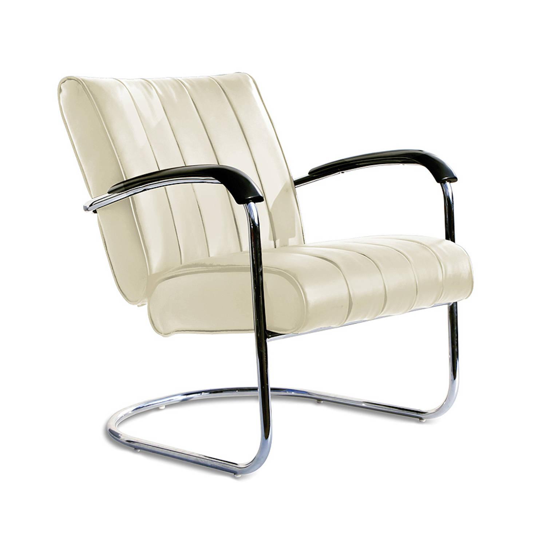 Bel Air Retro Loungestoel Lc-01 Ltd Off White