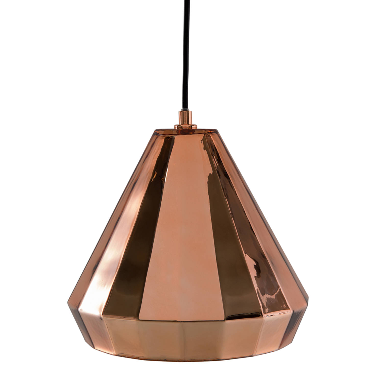 Korting Beliani Japura Hanglamp Glas 19 X 19 Cm
